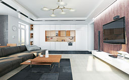 Modern  living room Royalty Free Stock Photos