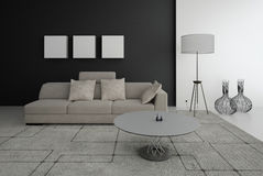 Modern Living Room | Architecture Interior. A 3d rendering of modern living room interior Royalty Free Stock Photos
