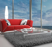 Modern Living Room | Architecture Interior. A 3d rendering of modern living room interior Royalty Free Stock Photo