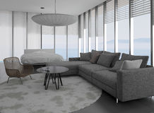 Modern Living Room | Architecture Interior. A 3d rendering of modern living room interior Stock Images