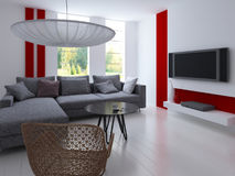 Modern Living Room | Architecture Interior. A 3d rendering of modern living room interior Stock Photos