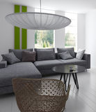 Modern Living Room | Architecture Interior. A 3d rendering of modern living room interior Stock Image