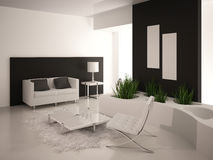 Modern Living Room | Architeture Interior. A 3d rendering of modern living room interior Royalty Free Stock Images
