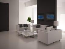 Modern Living Room | Architeture Interior. A 3d rendering of modern living room interior Stock Images