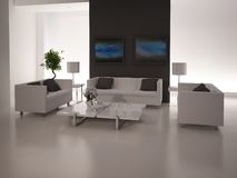 Modern Living Room | Architeture Interior. A 3d rendering of modern living room interior Royalty Free Stock Photo