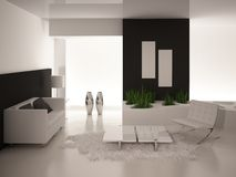 Modern Living Room | Architeture Interior. A 3d rendering of modern living room interior Royalty Free Stock Photography