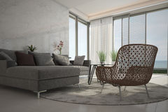 Modern Living Room | Architeture Interior Royalty Free Stock Photos