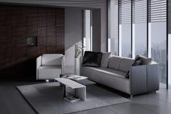 Modern Living Room | Architeture Interior. A 3d rendering of modern living room interior Stock Photos