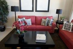 Modern living room area Royalty Free Stock Photos