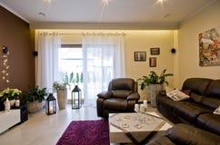 Modern living room at Christmas season. Stock Images