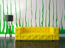 Modern living room. 3D render modern interior and sofa Stock Photos