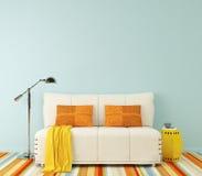 Modern living-room. 3d rendering. vector illustration