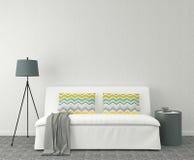 Modern living-room. 3d rendering. Stock Image