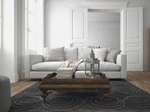 Modern living room. 3d rendering Stock Photo