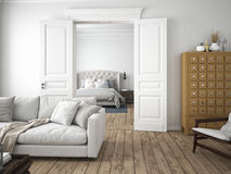 Modern living room. 3d rendering Stock Images
