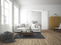Modern living room. 3d rendering Royalty Free Stock Photos