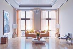 Modern living room design. Stock Photos