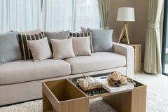 Modern living room design Royalty Free Stock Images