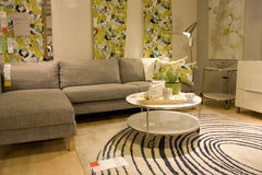 Modern living room furniture store Royalty Free Stock Photos