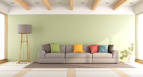 Colorful modern living room Royalty Free Stock Photos