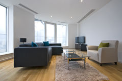 Modern Living Room In A Penthouse Apartment Royalty Free Stock Photo