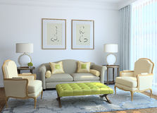 Modern living-room interior. Stock Image