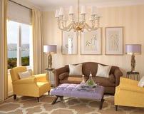 Modern living-room interior. royalty free illustration