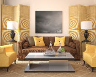 Modern living-room interior. Royalty Free Stock Photo