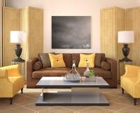 Modern living-room interior. Royalty Free Stock Photo