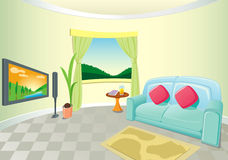 Modern Living Room Interior Stock Photo
