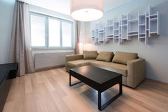 Modern living-room interior. Modern living-room with table and sofa Royalty Free Stock Image