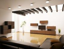 Modern living room interior 3d render Stock Photography