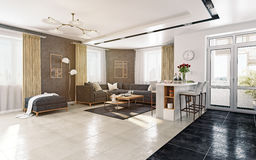 Modern living room interior Stock Image