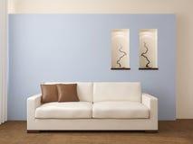 Modern living-room. Modern living-room interior. 3d render vector illustration