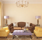 Modern living-room interior. Royalty Free Stock Photography