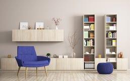 Modern living room interior 3d rendering Stock Photos