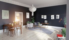 Modern living room  interior. Stock Images