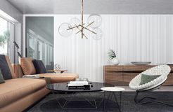 Modern living room interior design Royalty Free Stock Photo