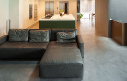 Modern living room. Interior, house in cement Stock Photos