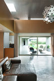 Modern living room. Interior, house in cement Stock Photo