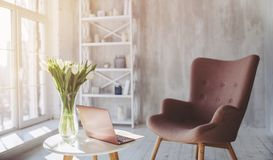 Modern living room interior Royalty Free Stock Photos