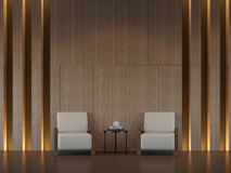 Modern  living room interior minimal style 3d rendering image Royalty Free Stock Image