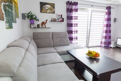 Modern living room interior. With canvas on the wall Stock Image
