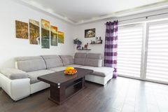Modern living room interior. With canvas on the wall Royalty Free Stock Photo