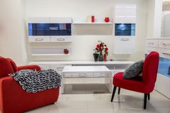 Modern living room interior. With furniture Stock Photography