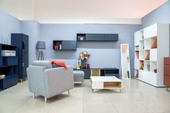 Modern living room interior. With furniture Stock Image