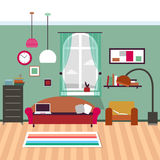 Modern living room interior. Vector for your ideas Stock Images