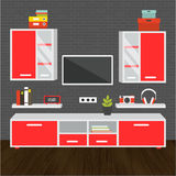 Modern living room interior. Modern living room vector for your ideas Royalty Free Stock Photos