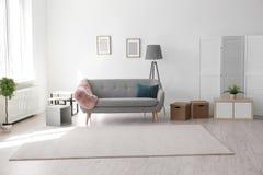 Free Modern Living Room Interior With Comfortable Sofa Stock Photo - 115515970