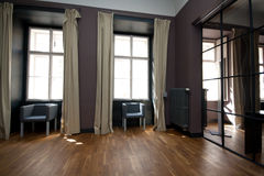 Modern living room. Luxury modern living room in purple Royalty Free Stock Photo